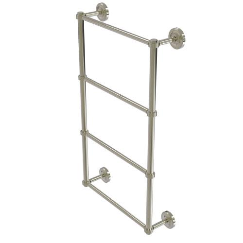Prestige Regal Polished Nickel 24-Inch Four Tier Ladder Towel Bar with Groovy Detail