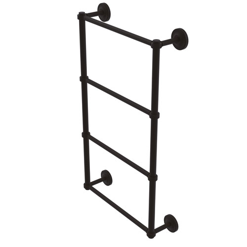 Prestige Regal Oil Rubbed Bronze 30-Inch Four Tier Ladder Towel Bar with Groovy Detail