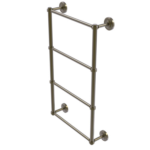 Prestige Regal Antique Brass 36-Inch Four Tier Ladder Towel Bar with Groovy Detail