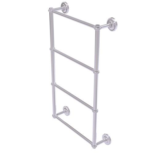Prestige Regal Satin Chrome 24-Inch Four-Tier Ladder Towel Bar with Twisted Detail