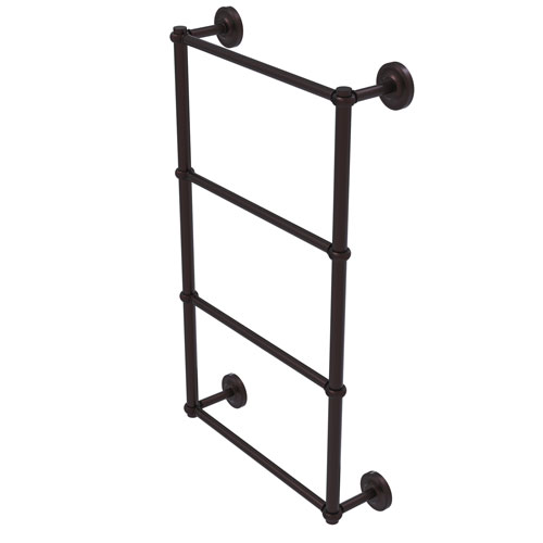 Prestige Regal Antique Bronze 30-Inch Four-Tier Ladder Towel Bar with Twisted Detail