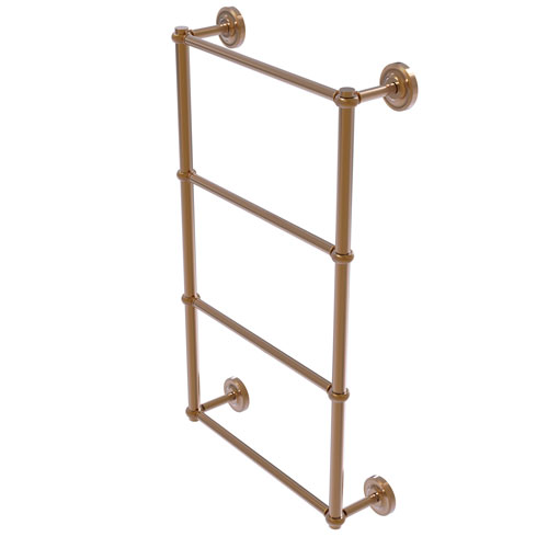 Prestige Regal Brushed Bronze 30-Inch Four-Tier Ladder Towel Bar with Twisted Detail