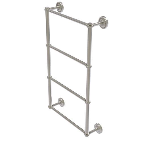 Prestige Regal Satin Nickel 30-Inch Four-Tier Ladder Towel Bar with Twisted Detail