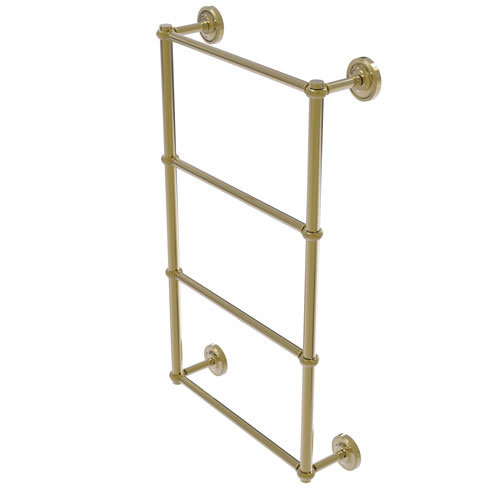 Prestige Regal Unlacquered Brass 30-Inch Four-Tier Ladder Towel Bar with Twisted Detail