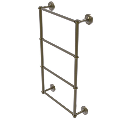 Prestige Regal Antique Brass 36-Inch Four-Tier Ladder Towel Bar with Twisted Detail
