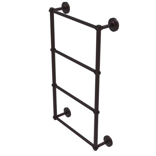 Prestige Regal Antique Bronze 36-Inch Four-Tier Ladder Towel Bar with Twisted Detail