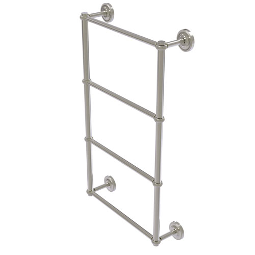 Prestige Regal Satin Nickel 36-Inch Four-Tier Ladder Towel Bar with Twisted Detail