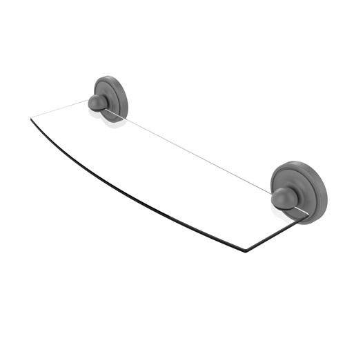 Prestige Regal Matte Gray 18-Inch Glass Shelf