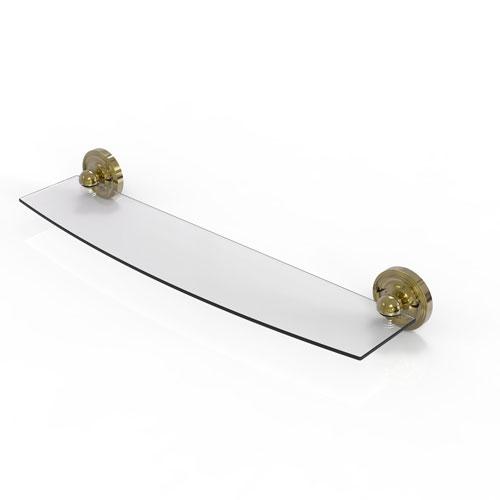 Prestige Regal Unlacquered Brass 24-Inch Glass Shelf