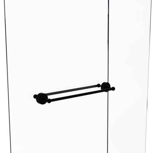 Prestige Regal Matte Black 24-Inch Back to Back Shower Door Towel Bar
