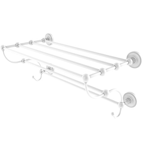 Prestige Regal Matte White 24-Inch Train Rack Towel Shelf