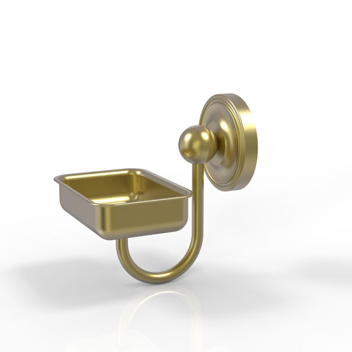 Prestige Regal Satin Brass Four-Inch Wall Mounted Soap Dish