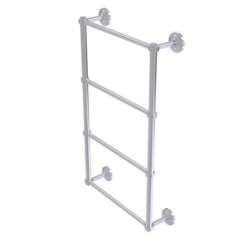Que New Satin Chrome 24-Inch Four-Tier Ladder Towel Bar