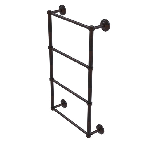 Que New Venetian Bronze 24-Inch Four-Tier Ladder Towel Bar