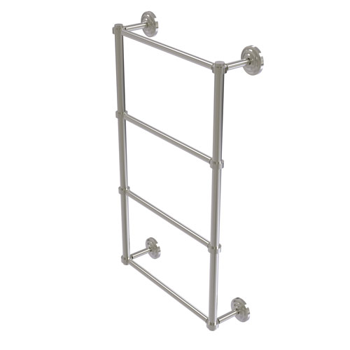 Que New Satin Nickel 30-Inch Four-Tier Ladder Towel Bar