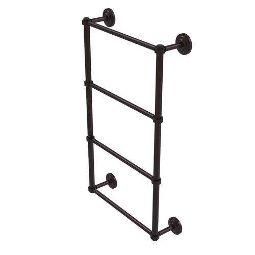 Que New Antique Bronze 36-Inch Four-Tier Ladder Towel Bar