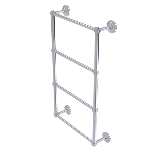 Que New Polished Chrome 36-Inch Four-Tier Ladder Towel Bar