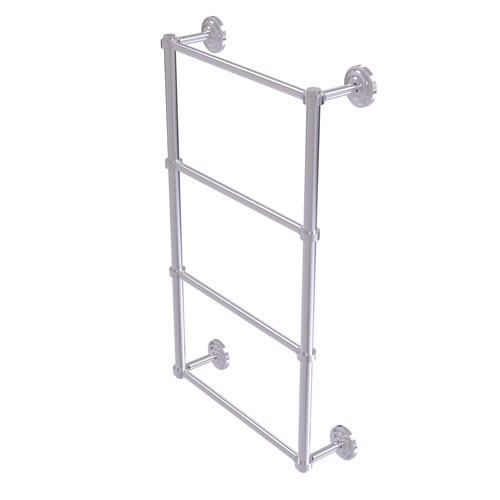 Que New Satin Chrome 36-Inch Four-Tier Ladder Towel Bar