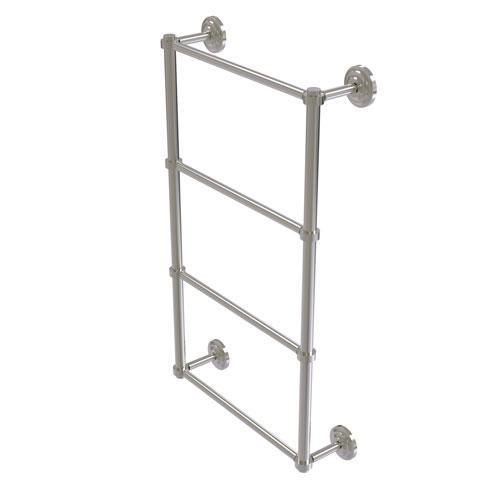 Que New Satin Nickel 36-Inch Four-Tier Ladder Towel Bar