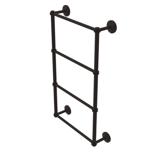 Que New Oil Rubbed Bronze 30-Inch Four Tier Ladder Towel Bar with Dotted Detail