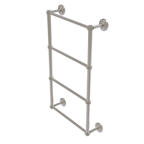 Que New Satin Nickel 30-Inch Four Tier Ladder Towel Bar with Dotted Detail