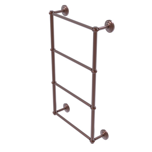 Que New Antique Copper 24-Inch Four-Tier Ladder Towel Bar with Twisted Detail