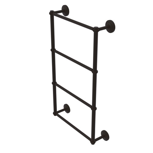 Que New Oil Rubbed Bronze 24-Inch Four-Tier Ladder Towel Bar with Twisted Detail