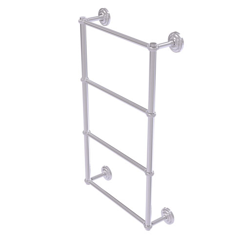 Que New Satin Chrome 36-Inch Four-Tier Ladder Towel Bar with Twisted Detail