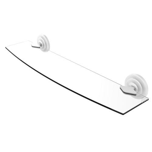 Que New Matte White 24-Inch Glass Shelf