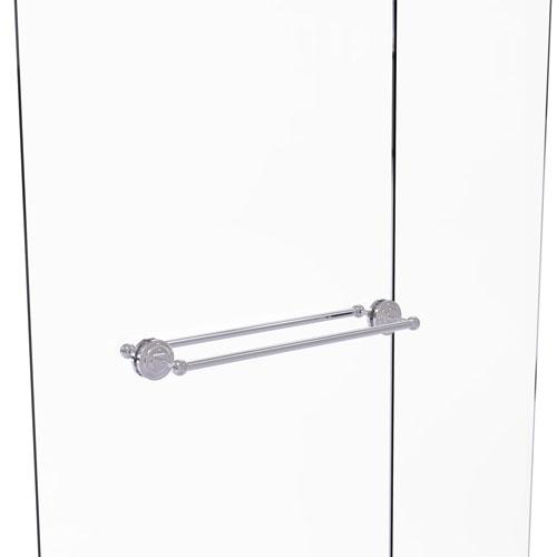 Que New Polished Chrome 24-Inch Back to Back Shower Door Towel Bar