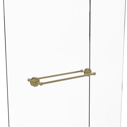 Que New Satin Brass 24-Inch Back to Back Shower Door Towel Bar