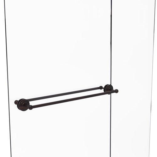 Que New Venetian Bronze 30-Inch Back to Back Shower Door Towel Bar