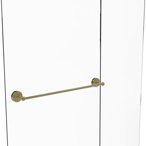 Que New Unlacquered Brass 30-Inch Shower Door Towel Bar