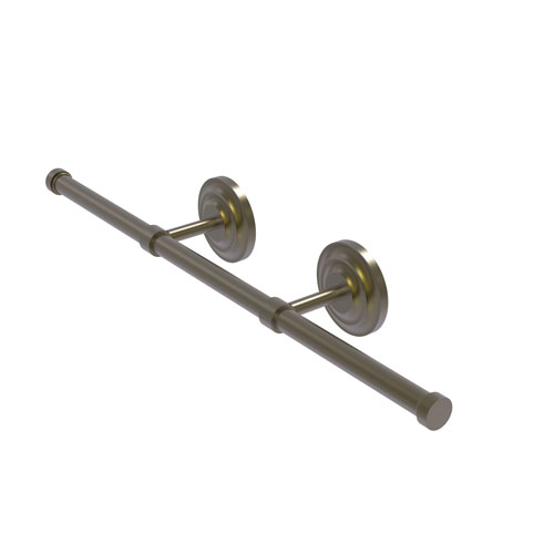 Que New Antique Brass Four-Inch Wall Mounted Horizontal Guest Towel Holder