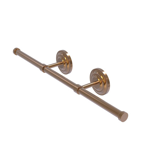 Que New Brushed Bronze Four-Inch Wall Mounted Horizontal Guest Towel Holder