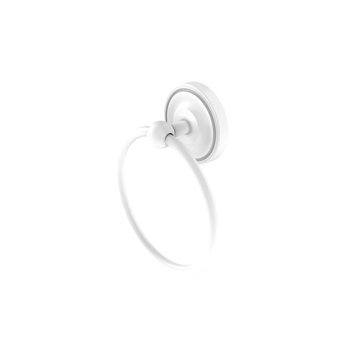 Regal Matte White Six-Inch Towel Ring