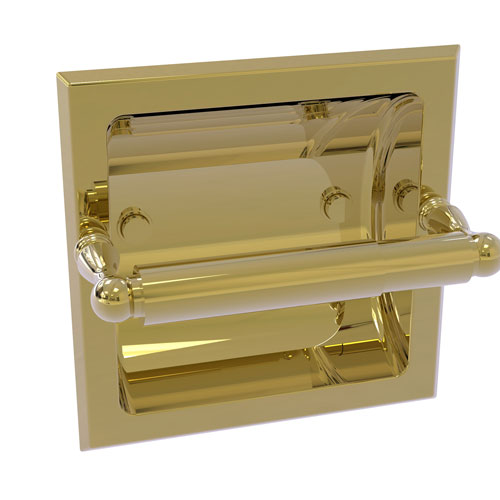 Regal Unlacquered Brass Six-Inch Recessed Toilet Tissue Holder