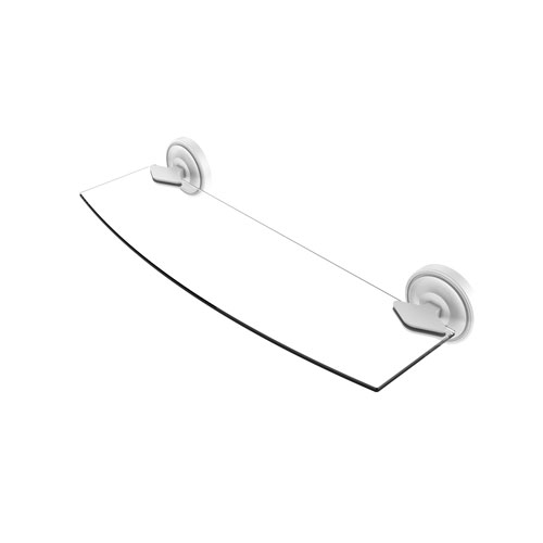 Regal Matte White 18-Inch Glass Shelf