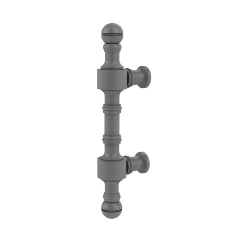Retro Dot Matte Gray Three-Inch Beaded Cabinet Pull