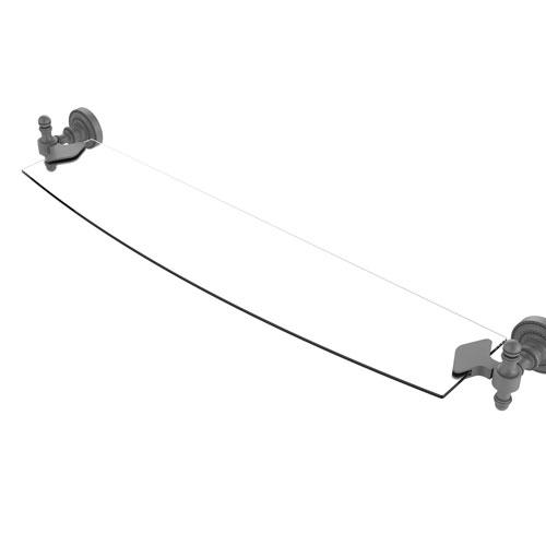 Retro Dot Matte Gray 24-Inch Glass Shelf