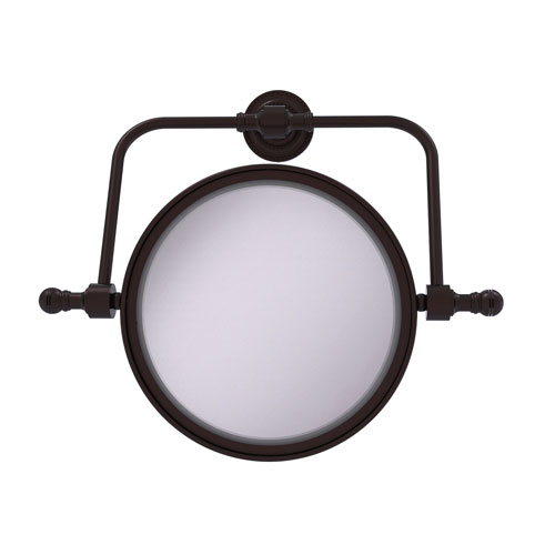 Retro Dot Antique Bronze Seven-Inch Wall Mounted Swivel Make-Up Mirror with 2X Magnification