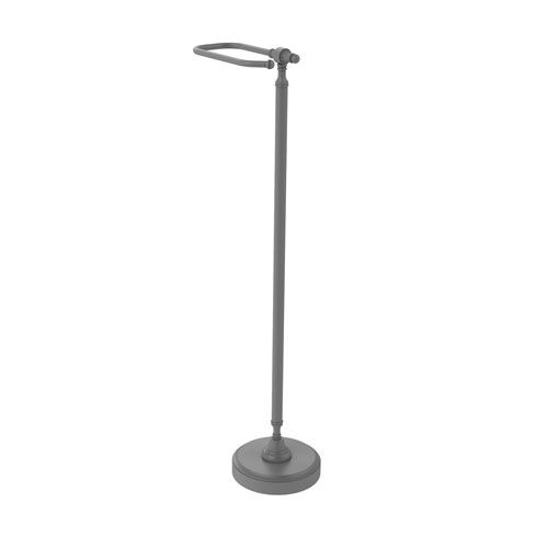 Retro Dot Matte Gray Six-Inch Free Standing Toilet Tissue Stand