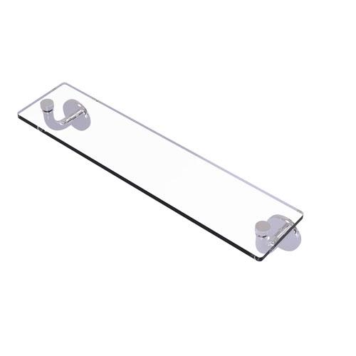 Remi Polished Chrome 22-Inch Glass Vanity Shelf with Beveled Edges