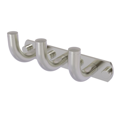 Remi Satin Nickel Three-Inch Three-Position Multi Hook