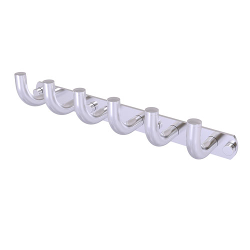 Remi Satin Chrome Three-Inch Six-Position Tie and Belt Rack