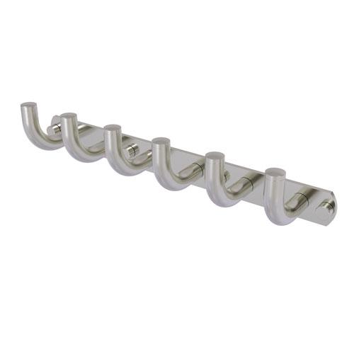 Remi Satin Nickel Three-Inch Six-Position Tie and Belt Rack