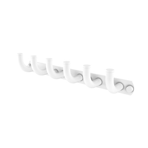 Remi Matte White Three-Inch Six-Position Tie and Belt Rack