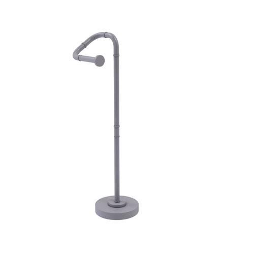 Remi Matte Gray Eight-Inch Free Standing Toilet Tissue Stand
