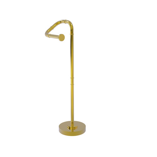 Remi Polished Brass Eight-Inch Free Standing Toilet Tissue Stand