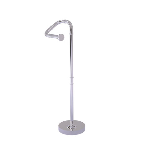 Remi Polished Chrome Eight-Inch Free Standing Toilet Tissue Stand